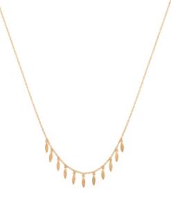 Collier Palmi en plaqué or 18 carats 3 microns Aimée private collection petites feuilles, splendide bijoux tendance, mode