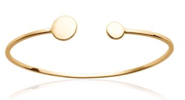 Jonc Dublin en plaqué or 18K 3 microns Aimée Private Collection bracelet femme influenceuse bijoux fantaisie