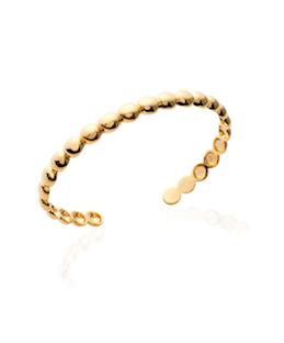Jonc Biscuit en plaqué or 18K 3 microns perles Aimée Private Collection bracelet femme influenceuse bijoux fantaisie