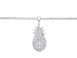 Chaine de cheville Yasaki en argent 925 rodhié ananas Aimée Private Collection nouveau modèle influenceuse tendance élégance belle bague