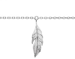 Chaine de cheville Amy en argent 925 rhodié feuille Aimée Private Collection nouveau modèle influenceuse tendance élégance belle bague