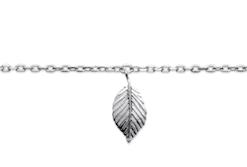 Chaine de cheville Peach en argent 925 rhodié feuille Aimée Private Collection nouveau modèle influenceuse tendance élégance belle bague