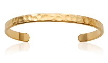 Jonc Acacia en plaqué or 18K 3 microns martelé Aimée Private Collection bracelet femme influenceuse bijoux fantaisie