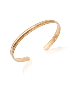 Jonc Will en plaqué or 18K 3 microns Aimée Private Collection bracelet femme influenceuse bijoux fantaisie