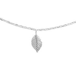 Collier Peach argent 925 rhodié feuilles Aimée Private Collection tendance influenceuse bijoux fantaisie mode