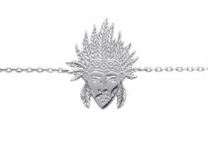 Collier Westside argent 925 rhodié tête d'indien Aimée Private Collection tendance influenceuse bijoux fantaisie mode