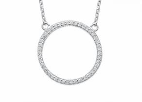 Collier Colette argent 925 rhodié anneau serti de diamants zirconium Aimée Private Collection tendance influenceuse bijoux fantaisie mode