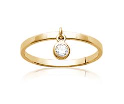 Bague Soul plaqué or 18K 3 microns diamant zirconium Aimée Private Collection nouveau modèle influenceuse tendance élégance belle bague