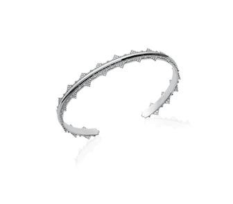 Jonc Reine en argent 925 rhodié couronne Aimée private collection bijoux fantaisie tendance mode influenceuse