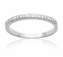 Bague Jude en argent 925 rhodié alliance serti diamants en oxyde de zirconium Aimée Private Collection nouveau modèle influenceuse tendance élégance