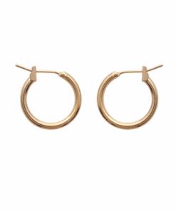 Boucles d'oreilles Bully rondes petit modèle plaqué or 18K 3 microns Aimée Private Collection nouveau modèle influenceuse top tendance