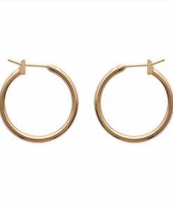 Boucles d'oreilles Bully rondes plaqué or 18K 3 microns Aimée Private Collection nouveau modèle influenceuse top tendance