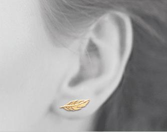 Boucles d'oreilles Amy plaqué or 18K 3 microns Feuille Aimée Private Collection nouveau tendance influenceuse mode