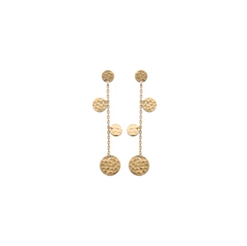 Boucles d'oreilles Pampelone plaqué or 18K 3 microns martelelé Aimée Private Collection nouveau tendance influenceuse