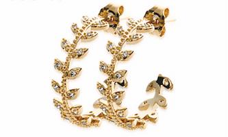 Boucles d'oreilles Autumn plaqué or 18K 3 microns micro serti de brillants Aimée Private Collection nouveau modèle influenceuse