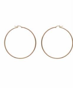 Boucles d'oreilles Bully plaqué or 18K 3 microns Aimée Private Collection 60mm Créole tendance mode