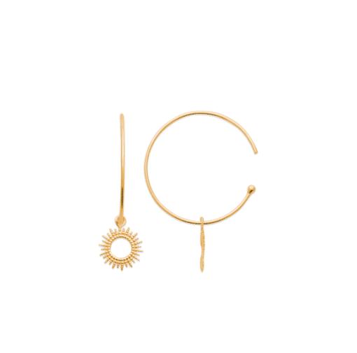 Sun boucles d'oreilles aimee private collection bijoux plaqué or argent mode femme cadeau