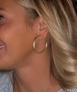 boucles d oreilles plaque d'or mode tendance