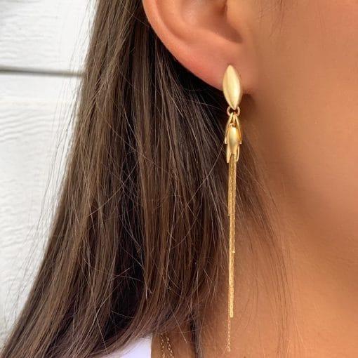 boucles d'oreilles plaqué or 18K 3 microns diamant zirconium Aimée Private Collection tendance influenceuse bijoux fantaisie femme