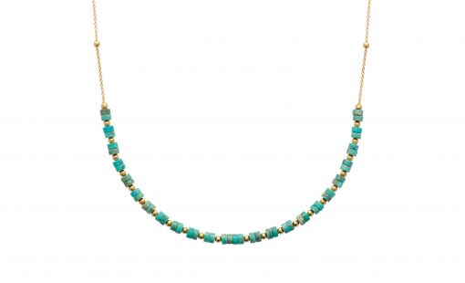 collier plaque or turquoise aimee private collection